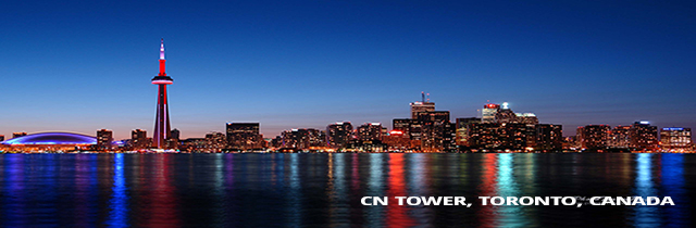 8. CN Tower, Toronto city, Canada